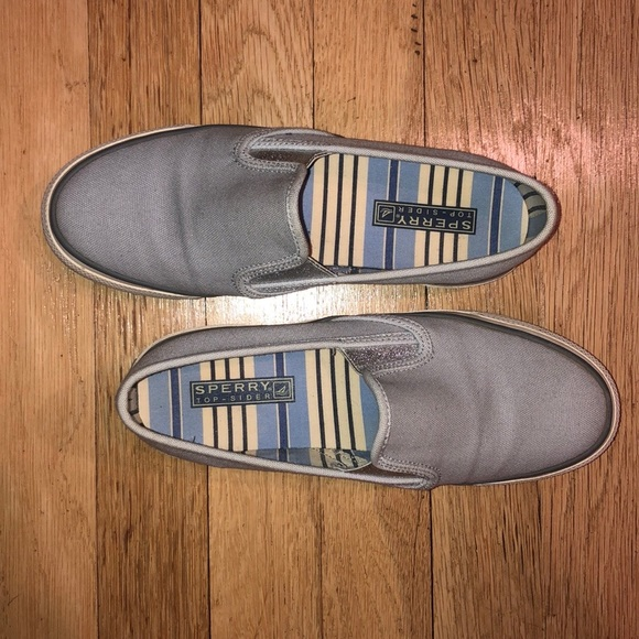Sperry Top Sider slip on canvas loafer